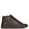 Arena high-top grained-leather trainers