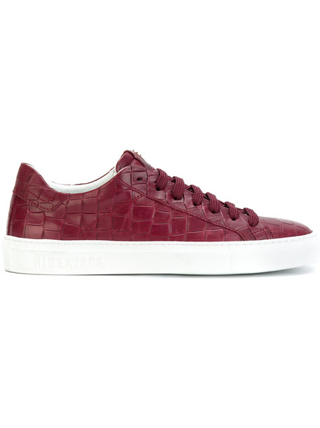 Hide & Jack women sneakers leather crocodile red shoes