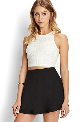 Retro Lace Crop Top | FOREVER21 - 2000089327