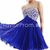 US $109.99 2015 Homecoming Dresses A Line Short/Mini Sweetheart Lace Up Dark Royal Blue Chiffon Beadings&Sequins