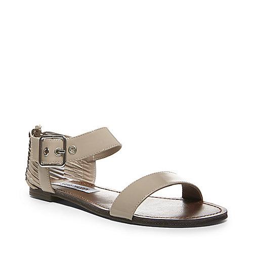 SINCERE BLUSH PATENT women's sandal flat ankle strap - Steve Madden