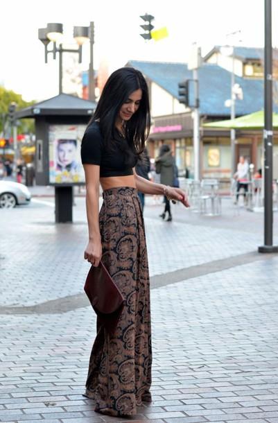 crop tops stylish skirt top pants boho maxi skirt printed pants boho pants bohemian