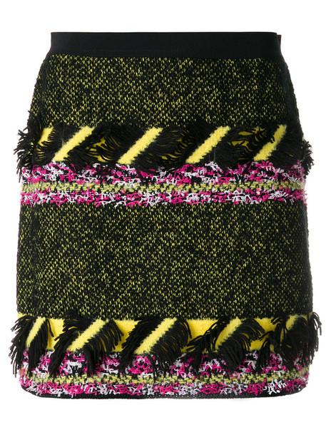 skirt women black wool