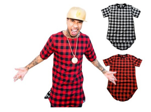 Side Zipper Plaid High Quality Star Look Man Hip Hop Hiphop ...