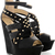 TIMELESS ECHO Black Studded Wedges - SHOES | HEELS | Wedges | PRET-A-BEAUTE.COM