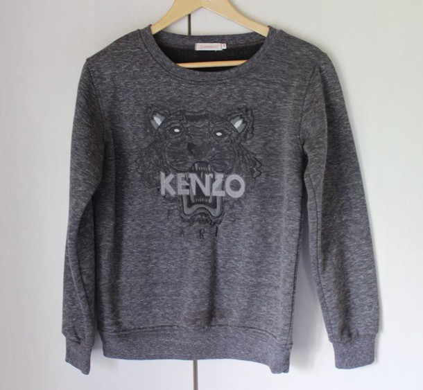 d7da2ae7ac blouse tiger ebay fall outfits 2014 tiger head kenzo sweater embroidered