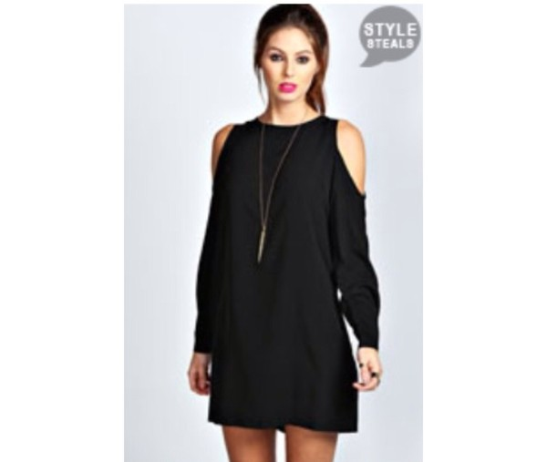 dress off the shoulder long sleve