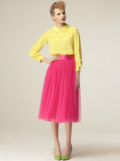 skirt,dress,bqueen,fashion,girl,long,ustrendy,pink,chic,cute,puff,gauze,high waisted