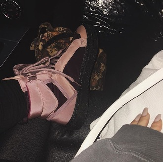 shoes sneakers pink kylie jenner