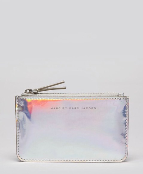 bag marc by marc jacobs holographic techno key pouch