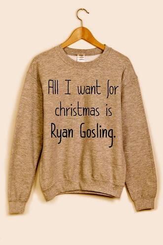 sweater brown ryan gosling black