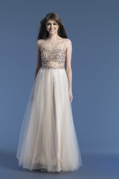 tulle prom dress beaded chiffon