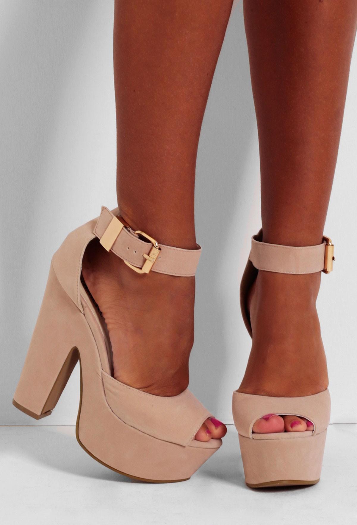 Nude Platform Shoes 90