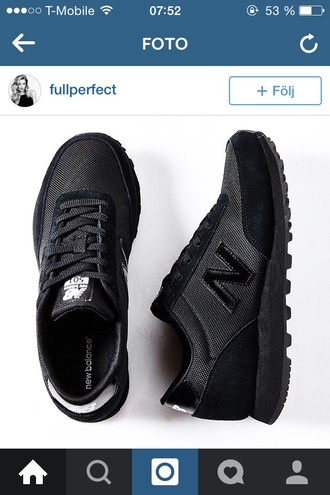 shoes black new balance sneakers
