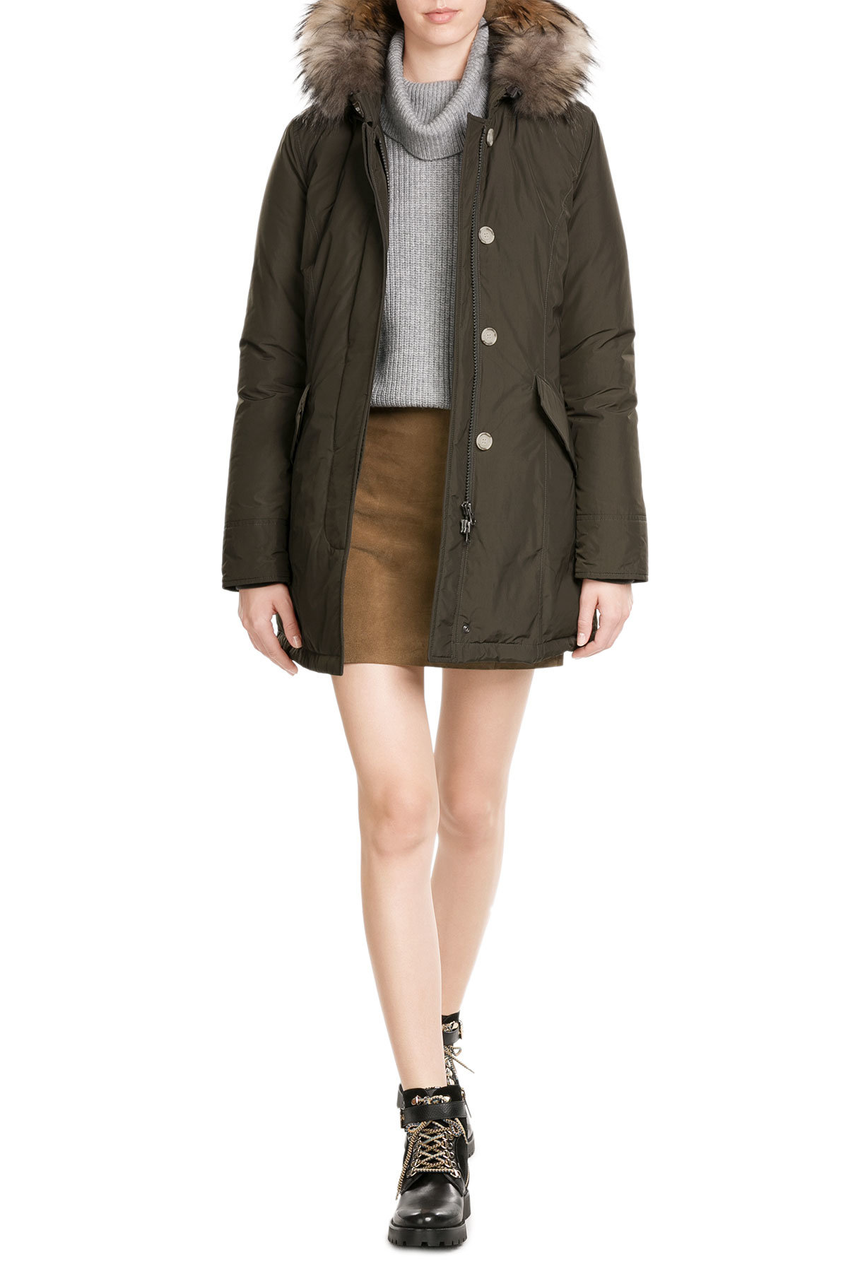 outlet store bacbf 7df4a Luxury Arctic Down Parka with Fur-Trimmed Hood - Woolrich | WOMEN | GB  STYLEBOP.com