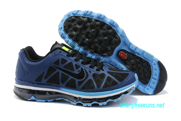 Mens Nike Air Max 2011 Binary Blue/Black/Blue Glow/Volt Sneakers [Tiffany Free Runs 074]-$56.98|Tiffanyfreeruns.net