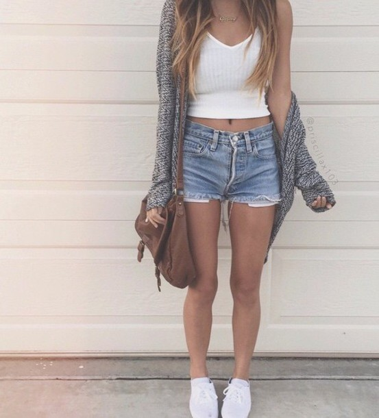 cardigan shorts girl summer summer outfits top