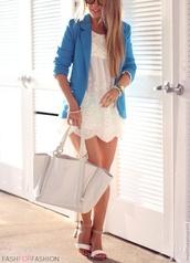 jacket,baby blue,blazer,summer