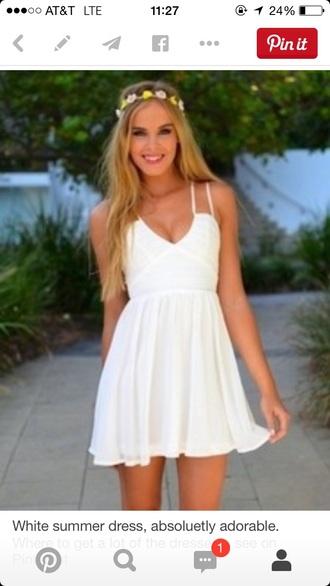 dress white dress sundress beach dress