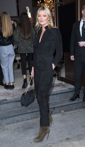 jumpsuit pants kate moss streetstyle london fashion week 2017 fall outfits black top