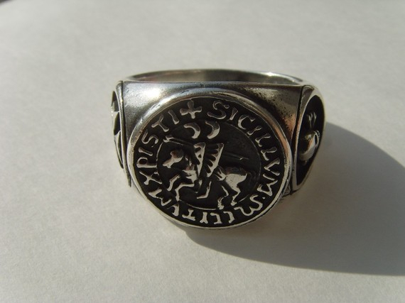 Silver 925 the seal of knights templar masonic by silver999