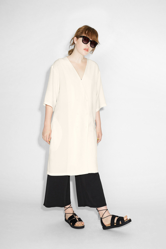 dress tunic dress v neck v neck dress cream wide-leg pants kimono