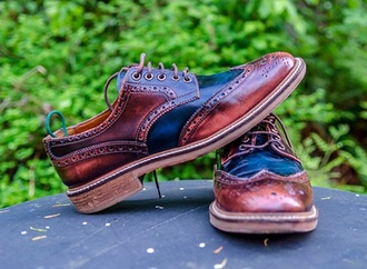 shoes brown rogues wing tips blue oxfords