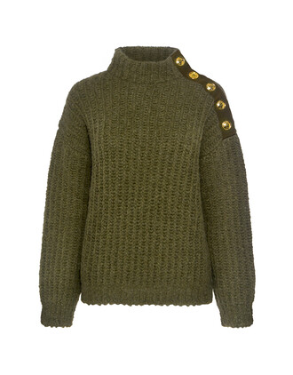 sweater high high neck green