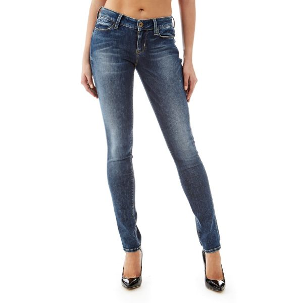Power Skinny mid denim pant on Guess.eu