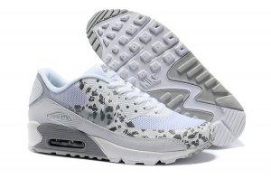 Wholesale cheap womens white grey nike air max 90 hyperfuse anti