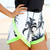 SABO SKIRT  Palm Tree Neon Shorts - Off White - 48.0000