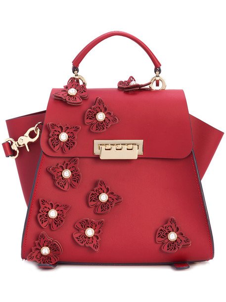 ZAC Zac Posen women backpack leather red bag