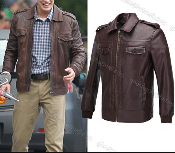 Amazon Com Koveinc Captain America Costume Evans Brown Leather