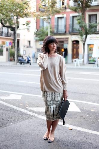 che cosa blogger skirt sweater bag