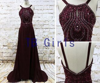 dress burgundy prom dress prom dress 2015 formal party dress long prom dress evening dress