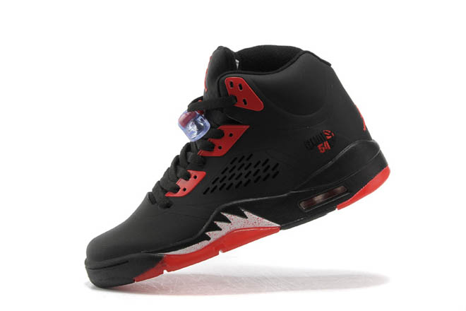 Nike Shoes: Michael Jordan 5 In Black & Varsity Red - $ 92.89 price sale