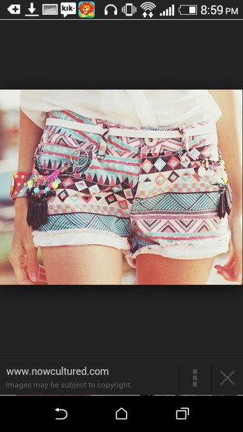 shorts tribal pattern tribal pattern tribal shorts beaded belt