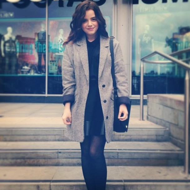 jacket, winter outfits, cute, black, grey, love, tumblr ...