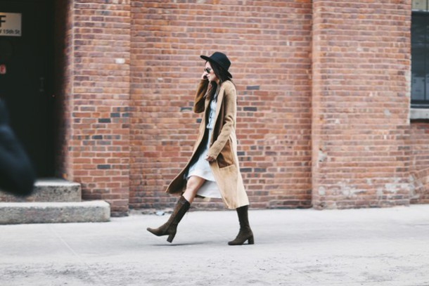 we wore what blogger dress coat shoes