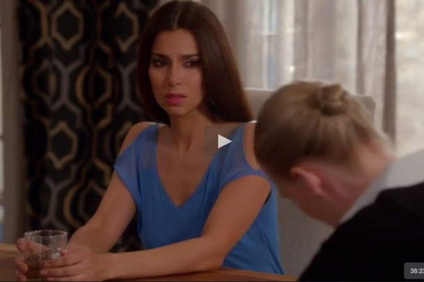 shirt deviousmaids vshirt cut-out cut-out cut-out cut-out shoulder off the shoulder cut out top shoulder cut out tv series 2015 devious maids v neck v neck