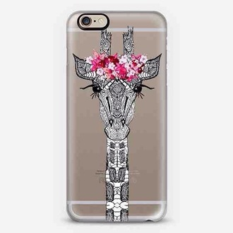 phone cover girraffe iphone cover iphone case giraffe floral phone case