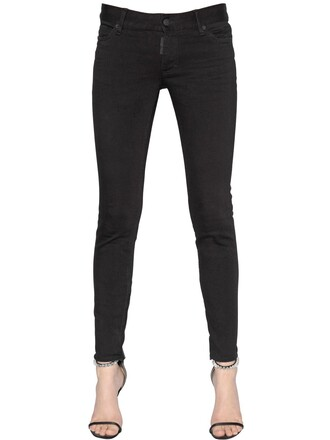 jeans denim cotton black