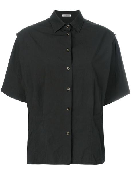 shirt kimono women cotton black top