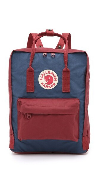 backpack blue royal blue red bag