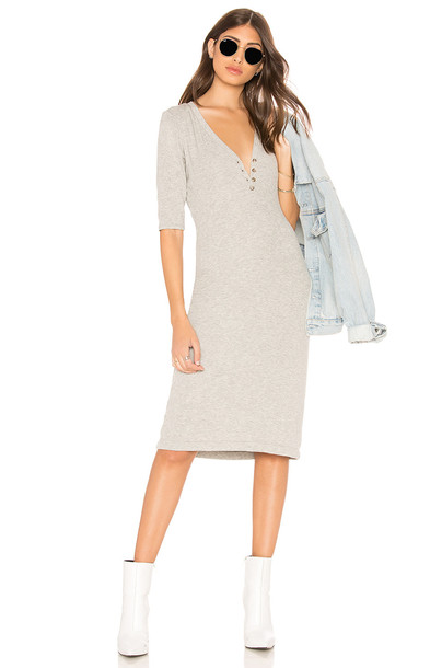 Splendid Rib Dress in gray