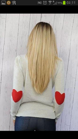 sweater heart hearts in elbows heart sweater jacket like summer summer jacket shirt elbow patches