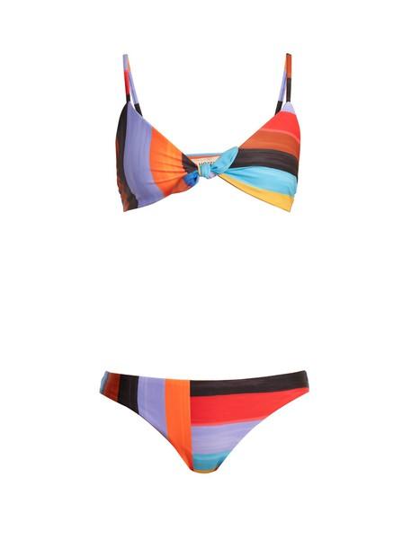 bikini striped bikini bikini top black swimwear