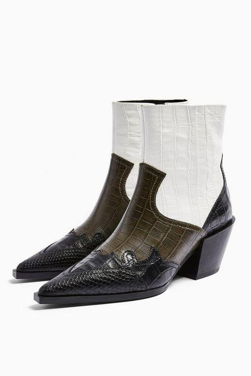 Missouri Leather Khaki Snake Western Boots - Khaki