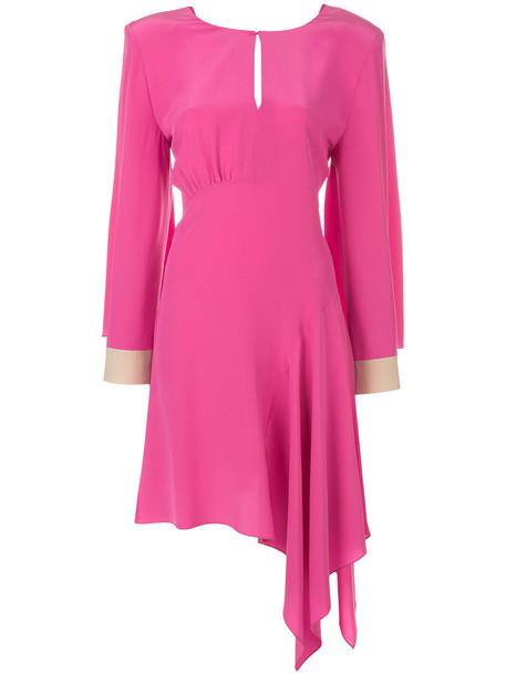 Fendi dress women plastic silk purple pink