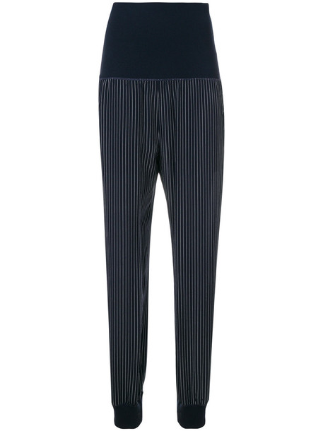 theory women cotton blue silk pants